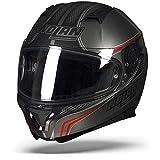 Nolan N87 Rapid N-COM-Casco Integral de Moto, Color Negro Mate policarbonato