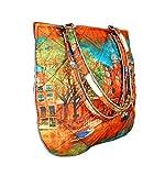 Mode Multicolor imprimées numériquement fourre-tout conception réversible...