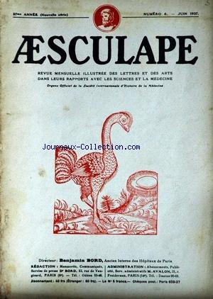 AESCULAPE [No 6] du 01/06/1937