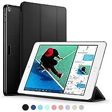 ESR Funda Nuevo iPad 2017 con Auto-Desbloquear y Función de Soporte [Ligera] de Cuero Sintético y Plástico Duro Cover Cáscara para Apple New iPad 2017 de 9.7 pulgadas -Negro