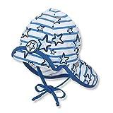 Sterntaler Baby Sommer-Jerseymütze mit Nackenschutz Lichtschutzfaktor 50+, Größe:43, Farbe:krisallblau (388)