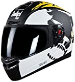 Steelbird SBA-1 Beast Matt Black with Yellow with Smoke Visor,600mm