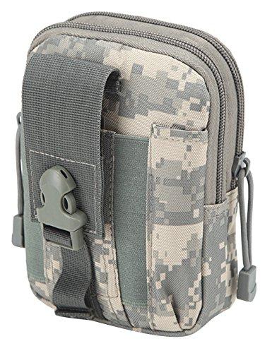 CUKKE Multipurpose Taktische Tasche Gürtel Taille Pack Tasche Military Taille Fanny Pack Telefon Tasche Gadget Geld Tasche Tarnung 4 Tarnung 1