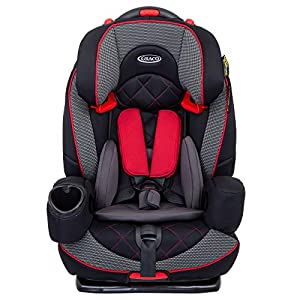 Graco Nautilus Elite Saturn Harnessed Booster Car Seat, Group 1/2/3, Red/Black   6