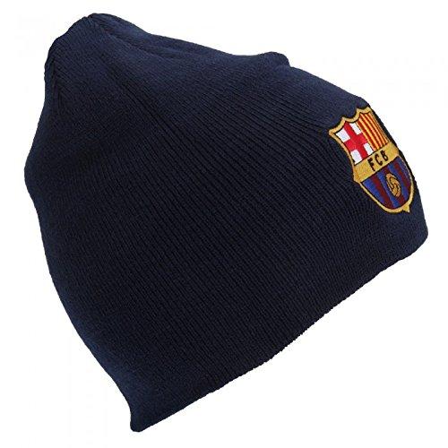 FC Barcelona – Gorro Beanie Oficial de invierno de punto Modelo Core Crest Hombre caballero