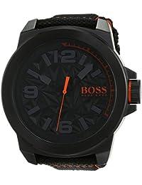 Hugo Boss Orange New York Men's Quartz Analogue Classic Black Nylon Strap 1513343