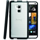 i-Blason HTC One Max (T6, 5.9 Inch Display) CandyGel Hybrid TPU + Hard Clear Case (Black)