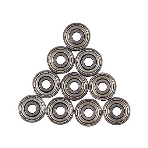 Rillenkugellager 10Pcs 623ZZ, Doppelte Metallschilder Kohlenstoff-Chromstahl Abgeschirmte Metrische Versiegelte Lager 3 × 10 × 4mm für Spielwaren Skateboards (Lager Metrische)