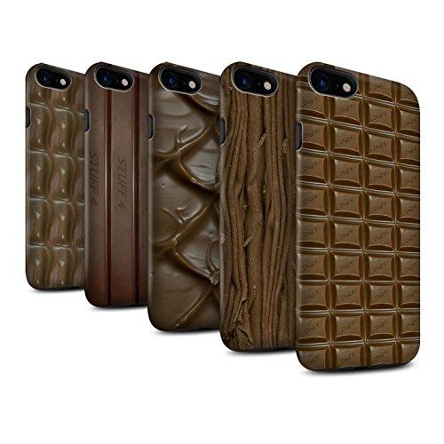 STUFF4 Matte Harten Stoßfest Hülle / Case für Apple iPhone 7 / Multipack (10 Modelle) / Schokolade Kollektion Multipack (10 Modelle)
