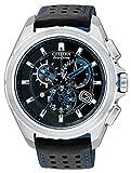 Citizen Proximity Bluetooth da uomo, orologio con quadrante nero, cronografo e cinturino nero TPU AT7030-05E