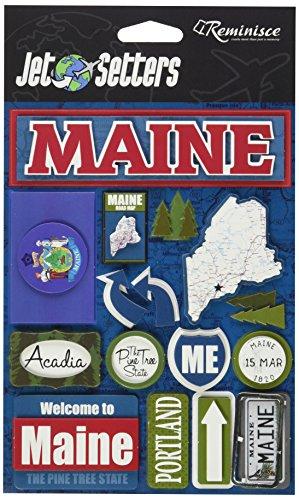 Unbekannt Erinnerung Maine Jet Setter dreidimensionale Aufkleber