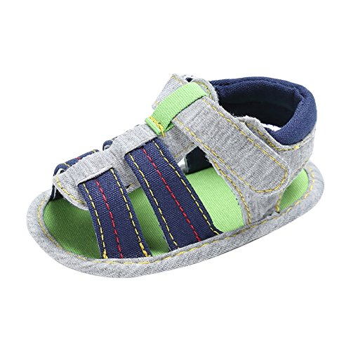 Minuya Toddler Kids Baby Boy Anti Slip Crib Stripe Shoes Prewalkers Sandals jO0UgnZ5d