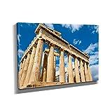Antikes Griechenland - Kunstdruck auf Leinwand (90x60 cm) zum Verschönern Ihrer Wohnung. Verschiedene Formate auf Echtholzrahmen. Höchste Qualität.