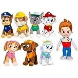 Peluche patrulla canina 20 cm (8 personajes) lote 8 und. Ryder,Marshall, Zuma, Chase, Rubble, Rocky, Everest, Skay