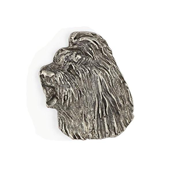 Briard, Silver Hallmark 925, Pin Art-Dog