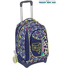 34a2b1d3cc TROLLEY SEVEN NEW JACK - WIDGET - Blu - SGANCIABILE e LAVABILE - Scuola e  viaggio