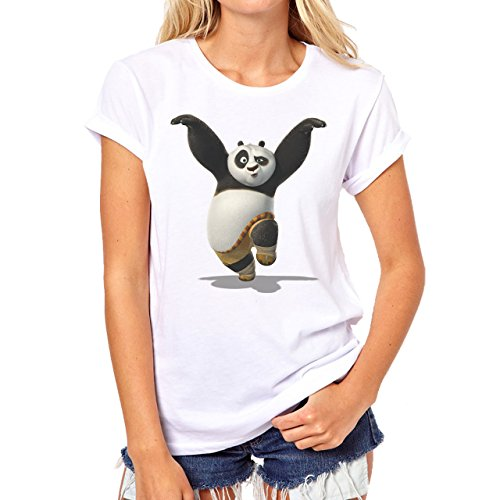 Kung Fu Panda 3 Up In Air Background Small Damen T-Shirt (Kung Fu Panda Outfit)
