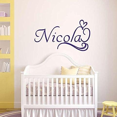 Nome da parete per bambini, motivo: lettera D ¨ ¦ cor-Decalcomania da parete, per bambini, adesivi da parete per cameretta, in vinile