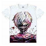 Modell Tokyo Ghoul Anime Kaneki Ken Cosplay T Shirt Asiatische Größe Gr. Large, Weiß