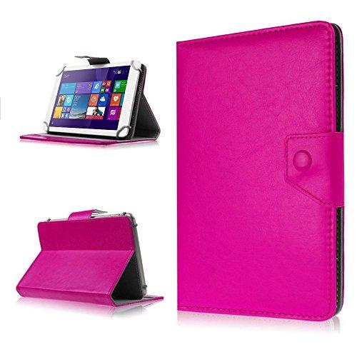 NAUC Tasche Hülle für ODYS Ieos Quad 10 Pro Schutzhülle Tablet Cover Case Bag Etui, Modellauswahl:Pink mit Magnetverschluss