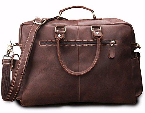 Xinmaoyuan uomini borsette uomini Business Briefcase Vera Pelle borsetta borsa per computer retrò spalla saltare Bag,caffè Brown