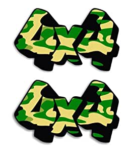 2 of 4X4 Army Camouflage 4WD Voiture Autocollant / Car Stickers - 11cm x 6.5cm