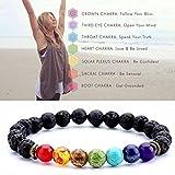 Gaddrt 7 Chakra guérison perlée bracelet en pierre de lave-bracelet diffuseur naturel bijoux