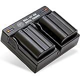 BM Premium Pack Of 2 EN-EL15 Batteries And Dual Battery Charger Kit For Nikon 1 V1 D500 D600 D610 D750 D800 D810 D810A D7000 D7100 D7200 Digital SLR Camera