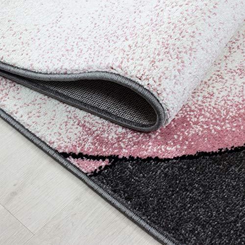 Tappeto per cameretta Bambini Colore: Rosa//Grigio//Bianco Ayyildiz Motivo: Fenicotteri con Stelle