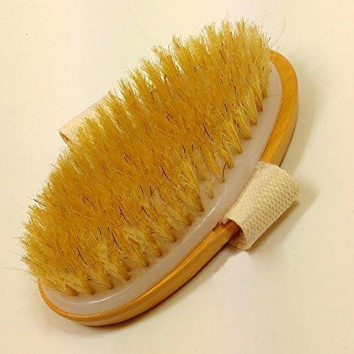 Hrph Trockene Haut Körperbürste Bürste mit Naturborsten weichen Griff Beutel Pinsel SPA Pinsel