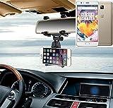 K-S-Trade per OnePlus 3T Supporto Smartphone specchietto retrovisore Titolare Monte Auto Universal Porta Telefono Staffa Culla Cruscotto Montaggio Holder per OnePlus 3T, Nero