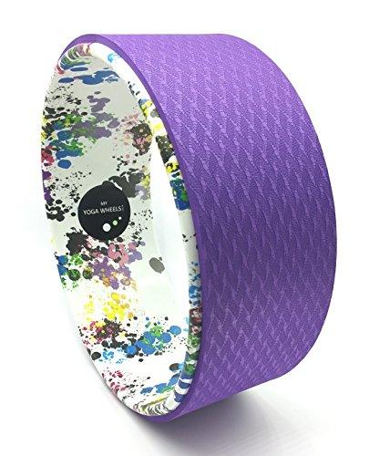myyogawheels * NEU * Farbe splash Pilates Yoga Rad Prop–Fitness Balance Trainer–Rücken Unterstützung Bei Biegen Dehnen Pole Training...