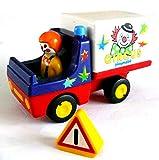 playmobil ® 123/1 2 3 - Zirkus Cyrcus Wagen auch für Reiterhof Tiergärten brauchbar mit Faher und Warnschild