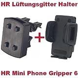 HR Richter Cellulare Smartphone Supporto da Auto Mini Phone Gripper e griglia di Ventilazione per Samsung Galaxy S3LTE S3Mini S4S4Active S4Mini Star Win Xcover 2Y Duos Young Duos Omnia M S5610