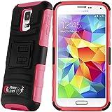 JAMMYLIZARD | Lifeproof Hülle für [ Samsung Galaxy S5 & S5 Neo ] mit drehbarem Gürtelclip, ROT