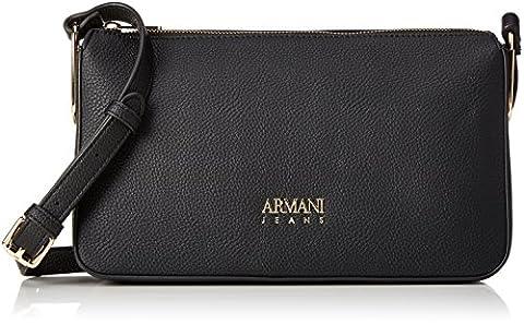 Armani Jeans Borsa Tracolla, Sacs baguette femme, Schwarz (Nero), 17x8x28 cm (B x H T)