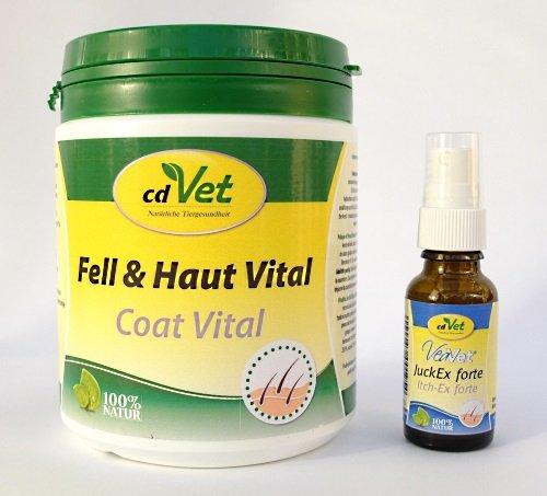 Schock´s Fell und Haut-Combi Fell & Haut Vital 400g & VeaVet JuckEx forte 20ml