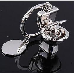 WANG Schlüsselanhänger Kreativer Umbau Keychain Toilette Keychain Metall Keychain Simulation Badezimmer-Werbung