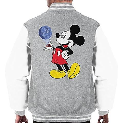 Mickey Mouse Death Star Plans Star Wars Men's Varsity Jacket