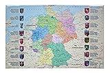 Idena 14014 - Schreibunterlage, Deutschlandkarte, 68 x 44 cm