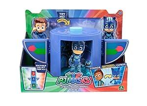 Giochi Preziosi - PJ Masks - Cámara de transformación en superhéroe, Amaya y Buhíta Connor y Gattoboy
