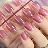 Faux ongles EchiQ - Couleur: violet clair translucide