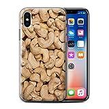 Stuff4 Gel TPU Hülle / Case für Apple iPhone X/10 / Cashewkerne Muster / Imbiss Kollektion