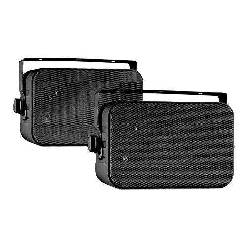 auna CB105 • Passive Kompaktlautsprecher • Lautsprecherboxen • 2-Wege-Lautsprecher Paar • Boxen • 20W max. Leistung • je 10,5cm (4