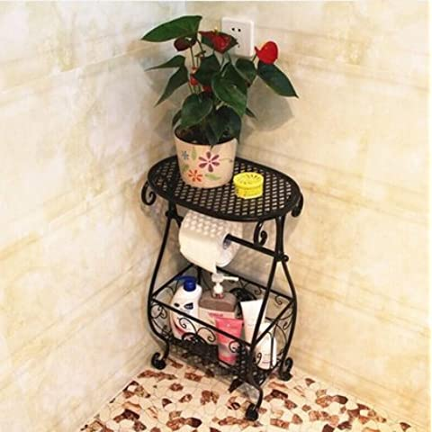 Mensole bagno in ferro battuto, pavimento bagno