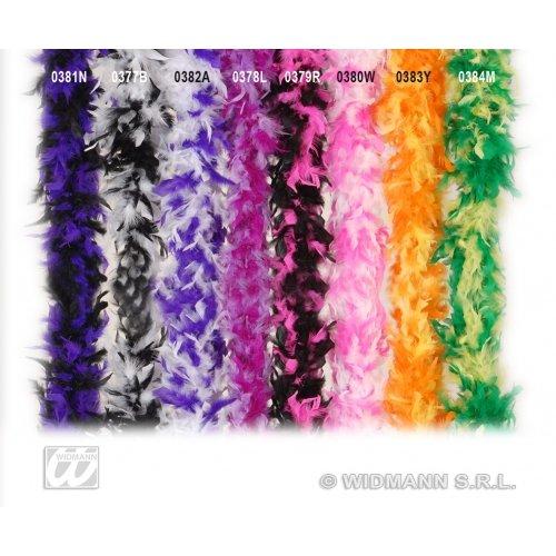 Bicol 180 cm Pink/Weiß Zubehör für 20er-30er-Jahre tanzende Flapper-Moll Fasching ()