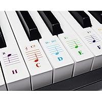 Klavieraufkleber für Keyboards mit 49 / 61 / 76 / 88 Tasten – Transparent und Entfernbar mit Kostenlosem Klavier E-Book