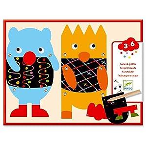 Djeco Cuadros para rascar Pequeños Monstruos (39090), Multicolor (1)