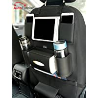 Autofurnish 3D Car Auto Seat Back Multi Pocket Storage Bag Organizer Holder Hanger Accessory (Black)