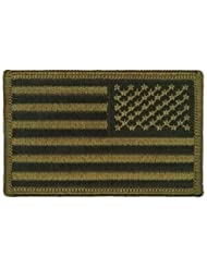 Patch Ecusson Brodé US Army Kaki - Thermocollant - Bras Droit - USA Flag - Airsoft - Paintball - Outdoor